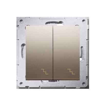 Kontakt Simon 54 Premium Zlatá Vypínač schodišťový dvojnásobný (modul) šroubové koncovky, DW6/2.01/44
