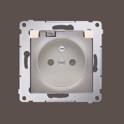 Kontakt Simon 54 Premium Zlatá Zásuvka pro verzi IP44 transparentní klapka, DGZ1BZ.01/44A