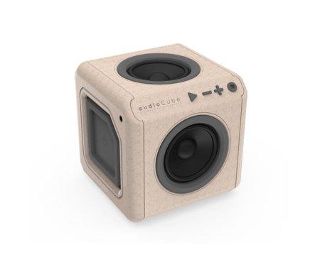 Kostka głośnik drewniana audioCube Portable Wood Edition Allocacoc