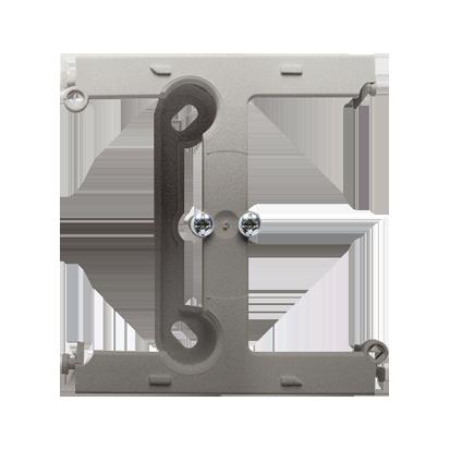 Krabice nástěnná hnebooká (40mm) - rozšiřující díl saténová (kov) Kontakt Simon PSH/29