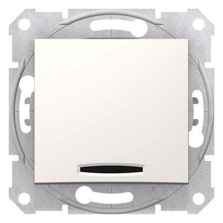 Křížový vypínač s podsvícením krémová Sedna SDN0501123 Schneider Electric