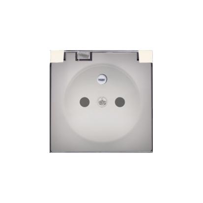 Kryt zásuvky s uzemněním a s víčkem dymną IP44, béžová Kontakt Simon 82 82068KD-31