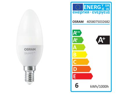 LED žárovka s nastavením teploty světla B40 6W SMART+ CANDLE E14 Tunable White OSRAM