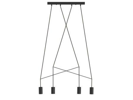 Lampa Imbria Black 4xGU10 Nowodvorski 9192