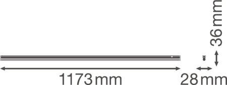 Lineární svítidlo LINEAR COMPACT SWITCH 1200 14W 4000K LEDVANCE