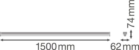 Lineární svítidlo LINEAR ULTRA OUTPUT 1500 30W 4000K LEDVANCE