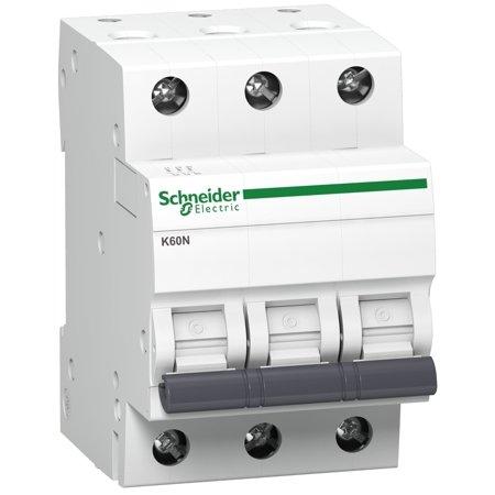 Nadproudový jistič K60N-C20-3 C 20A 3-pólový Schneider Electric A9K02320
