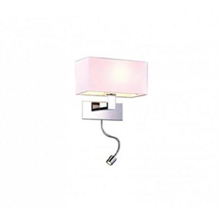 Nástěnná lampa s ramenem Martens bílá Azzardo MB2251-B-LED-R WH