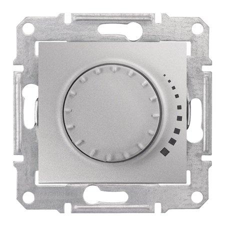 Otočný - tlačítkový stmívač hliník RL 60-500VA Sedna SDN2200560 Schneider Electric