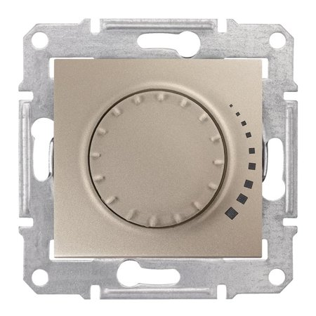 Otočný - tlačítkový stmívač saténová RL 60-500VA Sedna SDN2200568 Schneider Electric