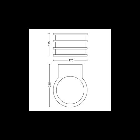 Philips Hue Nástěnná lampa vnější černá Lucca 2700K 1740193P0
