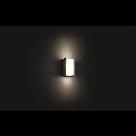 Philips Hue Nástěnná lampa vnější černá Turaco 2700K 647293P0
