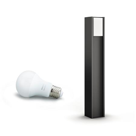 Philips Hue lampa podlahová vnější černá Turaco 2700K 1647493P0