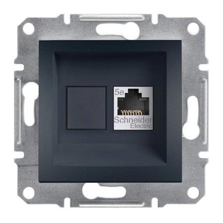 Počítačová zásuvka kat.5e UTP bez rámečku, antracit Schneider Electric Asfora EPH4300171