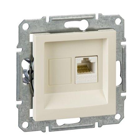 Počítačová zásuvka kat.5e UTP bez rámečku, krémová Schneider Electric Asfora EPH4300723