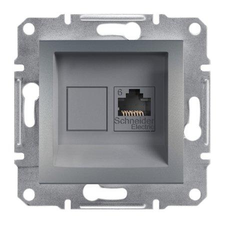 Počítačová zásuvka kat.6 UTP bez rámečku, ocel Schneider Electric Asfora EPH4700162