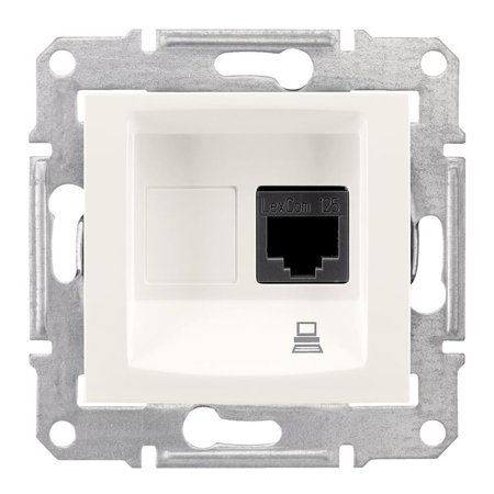 Počítačová zásuvka kategorie 5e krémová Sedna SDN4300123 Schneider Electric