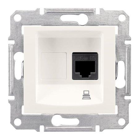 Počítačová zásuvka kategorie 5e stíněná krémová Sedna SDN4500123 Schneider Electric