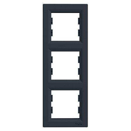 Rámeček 3-násobný svislý, antracit Schneider Electric Asfora EPH5810371
