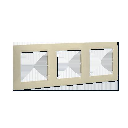 Rámeček 3-násobný - univerzální vertikální a svislé, béžová Kontakt Simon 1501630-031
