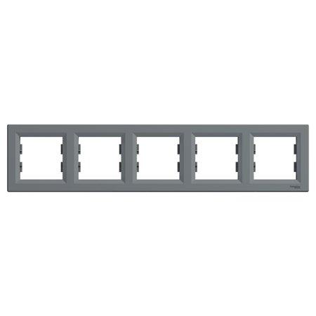 Rámeček 5-násobný vodorovný, ocel Schneider Electric Asfora EPH5800562