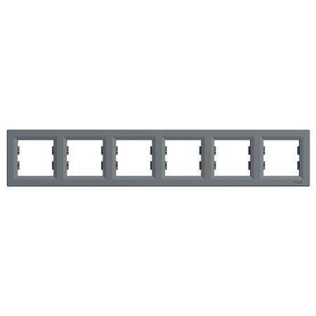 Rámeček 6-násobný vodorovný, ocel Schneider Electric Asfora EPH5800662
