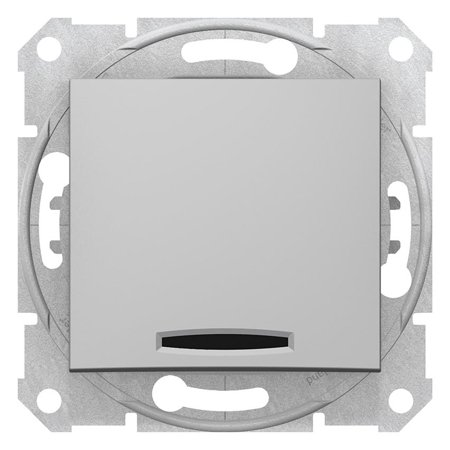 Schodišťové tlačítko s podsvícením hliník Sedna SDN1520160 Schneider Electric
