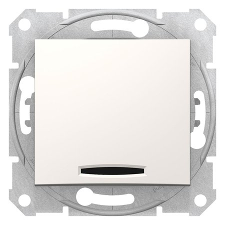 Schodišťové tlačítko s podsvícením krémová Sedna SDN1520123 Schneider Electric