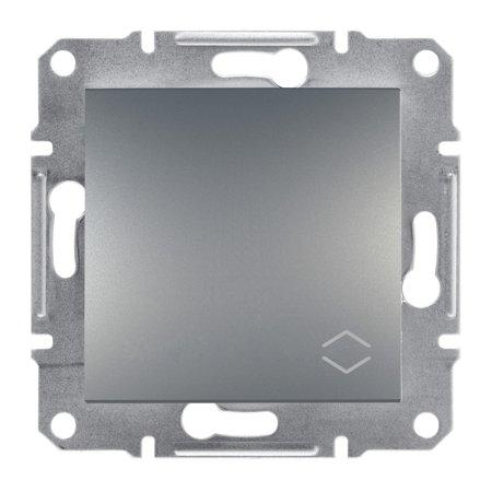 Schodišťový vypínač bez rámečku, ocel Schneider Electric Asfora EPH0400162