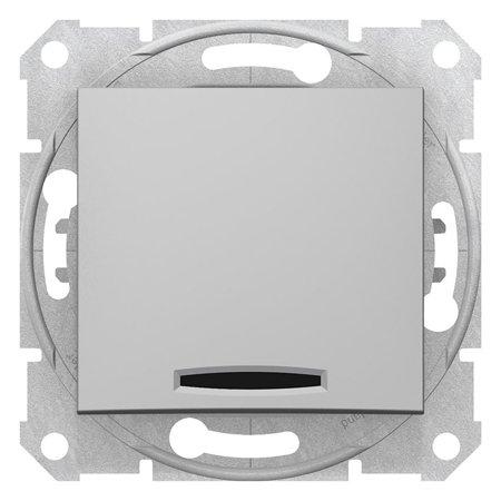 Schodišťový vypínač s podsvícením 16A hliník Sedna SDN1500260 Schneider Electric