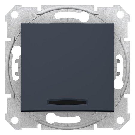 Schodišťový vypínač s podsvícením grafitová Sedna SDN1500170 Schneider Electric