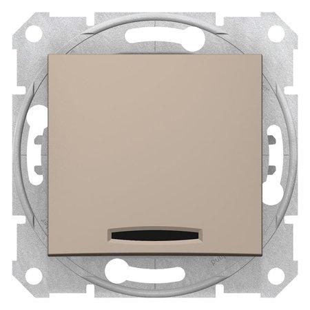 Schodišťový vypínač s podsvícením saténová Sedna SDN1500168 Schneider Electric