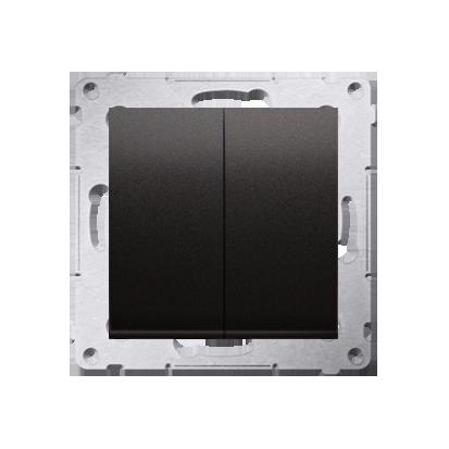 Simon 54 Premium Antracit Přepínač sériový (modul) X šroubové koncovky, DW5A.01/48