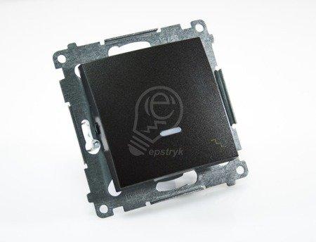 Simon 54 Premium Antracit Vypínač schodišťový s podsvícením LED (modul) rychlospojka, DW6L.01/48