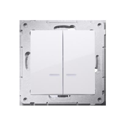 Simon 54 Premium Bílý Přepínač sériový s podsvícením LED, pro verzi IP44 DW5ABL.01/11