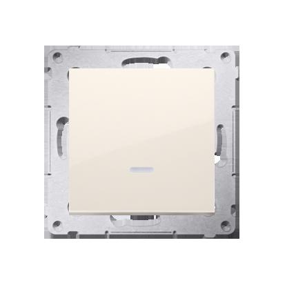 Simon 54 Premium Krémová Vypínač jednonásobný se signalizací připojení LED (modul) rychlospojka, DW1ZL.01/41