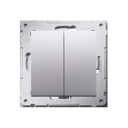 Simon 54 Premium Stříbrná Přepínač sériový (modul) X šroubové koncovky, DW5A.01/43
