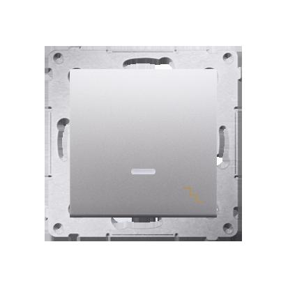 Simon 54 Premium Stříbrná Vypínač schodišťový s podsvícením LED (modul) X šroubové koncovky, DW6AL.01/43