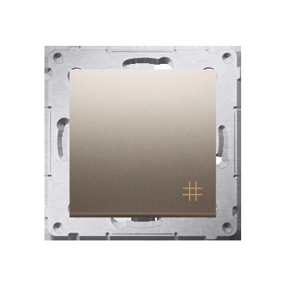 Simon 54 Premium Zlatá Vypínač křížový (modul) X šroubové koncovky, DW7A.01/44