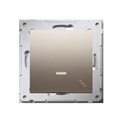 Simon 54 Premium Zlatá Vypínač schodišťový s podsvícením LED (modul) X šroubové koncovky, DW6AL.01/44