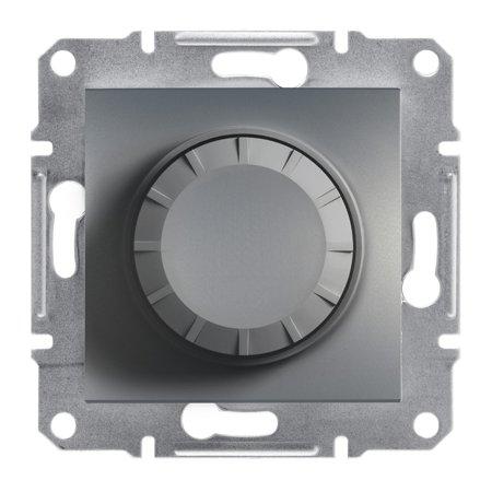 Stmívač RL (schodišťový vypínač) bez rámečku, ocel Schneider Electric Asfora EPH6400162