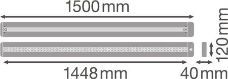 Stmívatelné svítidlo LINEAR IndiviLED DIRECT/INDIRECT DALI 1500 56W 3000K LEDVANCE
