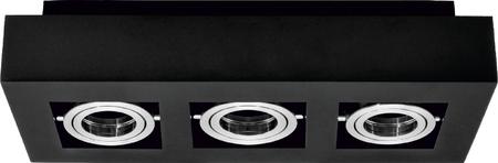 Stropní bodové svítidlo OSMIN 3 Black IP20 hranaté černé mat EDO777426 EDO