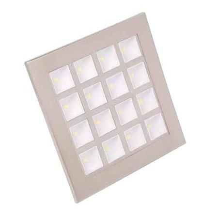 Stropní bodové svítidlo POWER LED matný chrom WW (teplá bílá) 16x1W HL682L Horoz