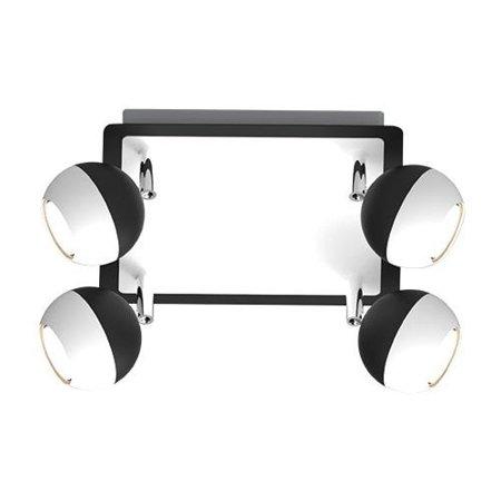 Stropní lampa černo-bílá Kombi GU10 4D Struhm