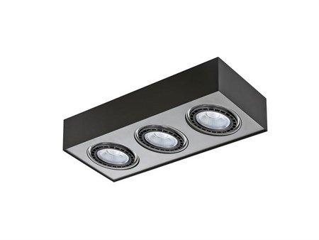 Svítidlo stropní Paulo 3 230V LED 7W stmívatelné černá hliník Azzardo GM4301