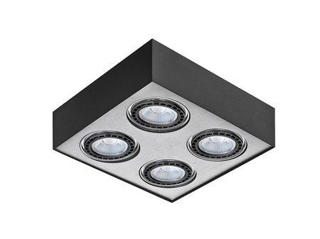 Svítidlo stropní Paulo 4 230V LED 16W černá hliník Azzardo GM4400