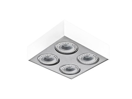 Svítidlo stropní Paulo 4 230V LED 7W bílá hliník Azzardo GM4400