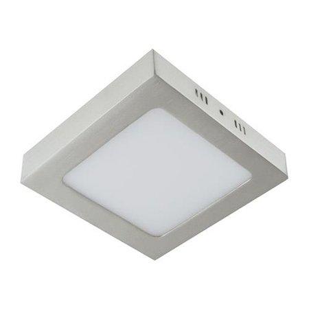 Svítidlo stropní, plafon MARTIN LED D, hranatá, 18W, 4000K, matný chrom, 3278, Struhm