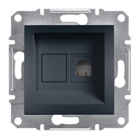 Telefonní zásuvka bez rámečku, antracit Schneider Electric Asfora EPH4100171